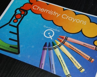 Large Chemistry Label for Crayon Box (8.5 x 5 inches)