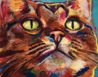 Tabby Cat 2 - Print of Original Painting