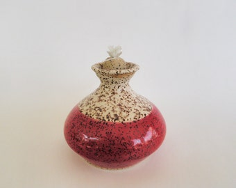 Red and White Oil Lamp