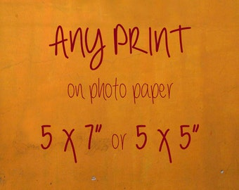 "resize your order to 5x7"" or 5x5"" --paper print -- personalized resized customized"