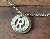 RESERVED for KELLY Council Bluffs Bus Token Lucky Wheat Penny Sterling Silver Necklace