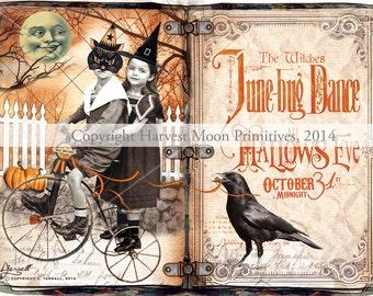 Primitive  HALLOWEEN CABINET CARD - Masquerade