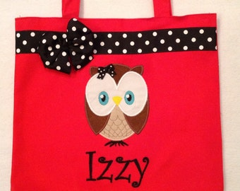 Personalized Tote Bag, Personalized Tote, Owl Tote Bag, Owl Tote, Owl Gift, Personalized Owl, Baby owl, Cute owl, Owl party, Christmas Owl