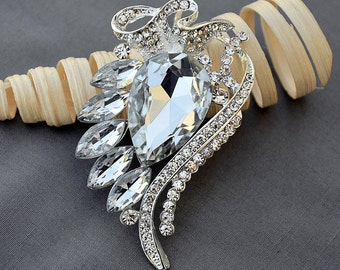 Rhinestone Brooch Embellishment Crystal Wedding Bridal Brooch Bouquet Cake Invitation Hair Comb Shoe Clip Pin DIY Supply BR429