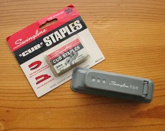 gray mid century swingline cub stapler home office vintage