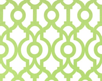 Pair (2 panels) designer drapes, Lyon kiwi cotton