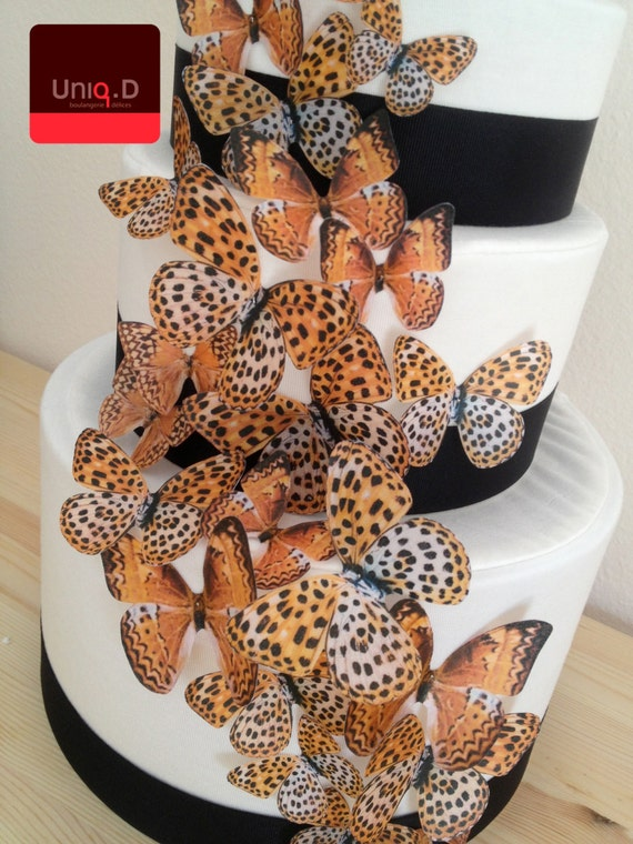 45 Leopard Edible Cake Decoration Wedding Cake By Uniqdots