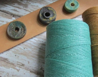 SALE, Stock Reduction, Spool Four Ply Linen, Waxed Irish Linen, Irish Linen, Linen thread, 4 ply, Four Ply Linen, Spool, linen cord