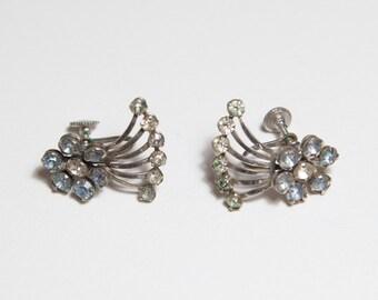 Vintage Rhinestone Earrings Super Funky