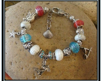 Carribean Vacation - 8 1/2 inch European Style Bracelet