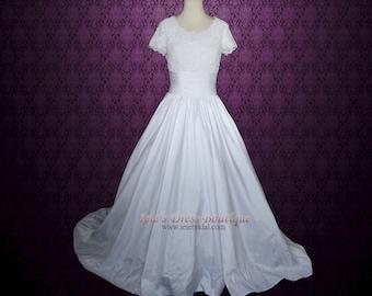 Modest Ball Gown Wedding Dress with Short sleeves | Modest Wedding Dress | princess wedding dress | Catherine