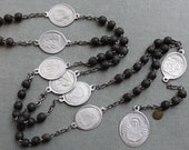 RESERVED for C / Antique French Servite Chaplet of the Seven Sorrows of Mary / Stabat Mater Dolorosa