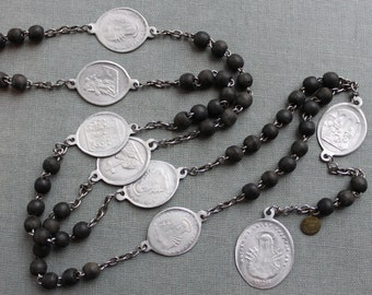 Antique French Servite Chaplet of the Seven Sorrows of Mary / Stabat Mater Dolorosa