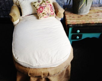 Antique Petite Chaise Lounge Sale Reserved