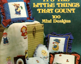 It's The Little Things That Count Clown Hatching Chick Turtle Fishing Golfer Clown Counted Cross Stitch Embroidery Patterns Craft Leaflet 12