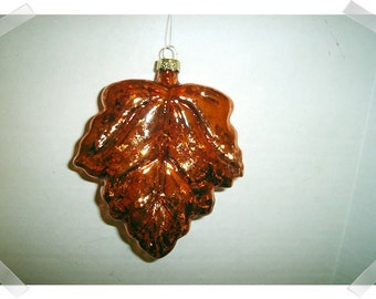 Glass Maple Leaf Ornament/ Large size /Craft Supplies*