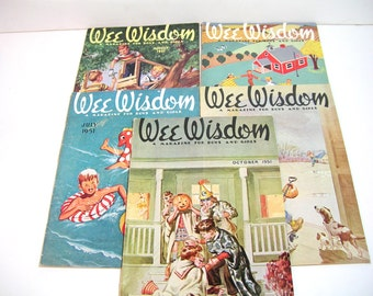 Wee Wisdom Magazine For Boys And Girls 1951 Collection