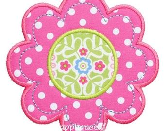 430 Flower 5 Machine Embroidery Applique Design