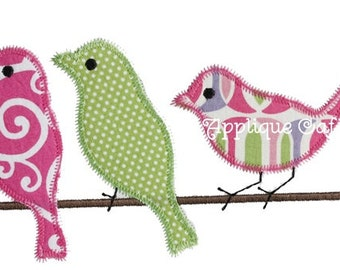 682 Zig Zag Birds Machine Embroidery Applique Design