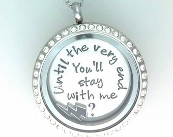 You'll stay with me... Harry Potter Inspired Locket, Floating Charm Locket Necklace - Memory Locket