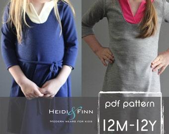 Wonderland Dress PDF pattern and tutorial 12m - 12y EASY SEW tunic dress jumper
