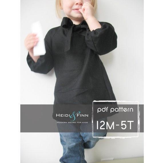 Girly little blouse pattern and tutorial PDF 12M-5T easy sew epattern