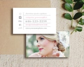 Wedding Photographer Business Cards - Moo Business Cards - PSD Photo Templates - INSTANT DOWNLOAD - c0012