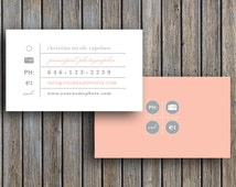 Vintage Business Card Template for Photographers (digital Photoshop files) - c0004