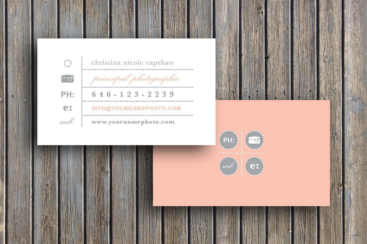 Photography Templates Business Card Template Business