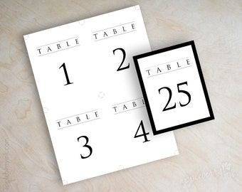 Number Names Worksheets free printable table number templates : Items similar to Wedding Templates - DIY Table Number Cards and ...