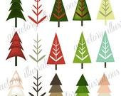 Christmas Clip Art INSTANT DOWNLOAD Christmas Tree Clip Art >Holiday Clip Art > Festive Clip Art >Tree Clip Art