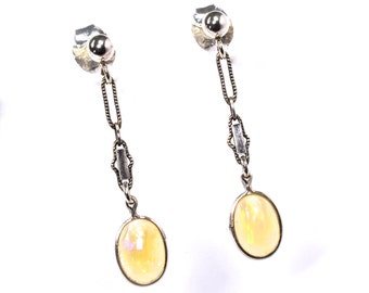 Ethiopian Opal and Sterling Earrings - Handmade by Ruby In The Dust