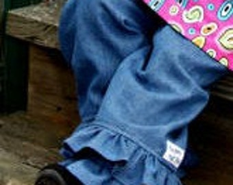 Double Ruffle Denim Pants sizes 2T 3T 4 and 5