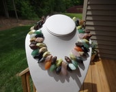 Gemstone with Multiple Gems Chunky Necklace