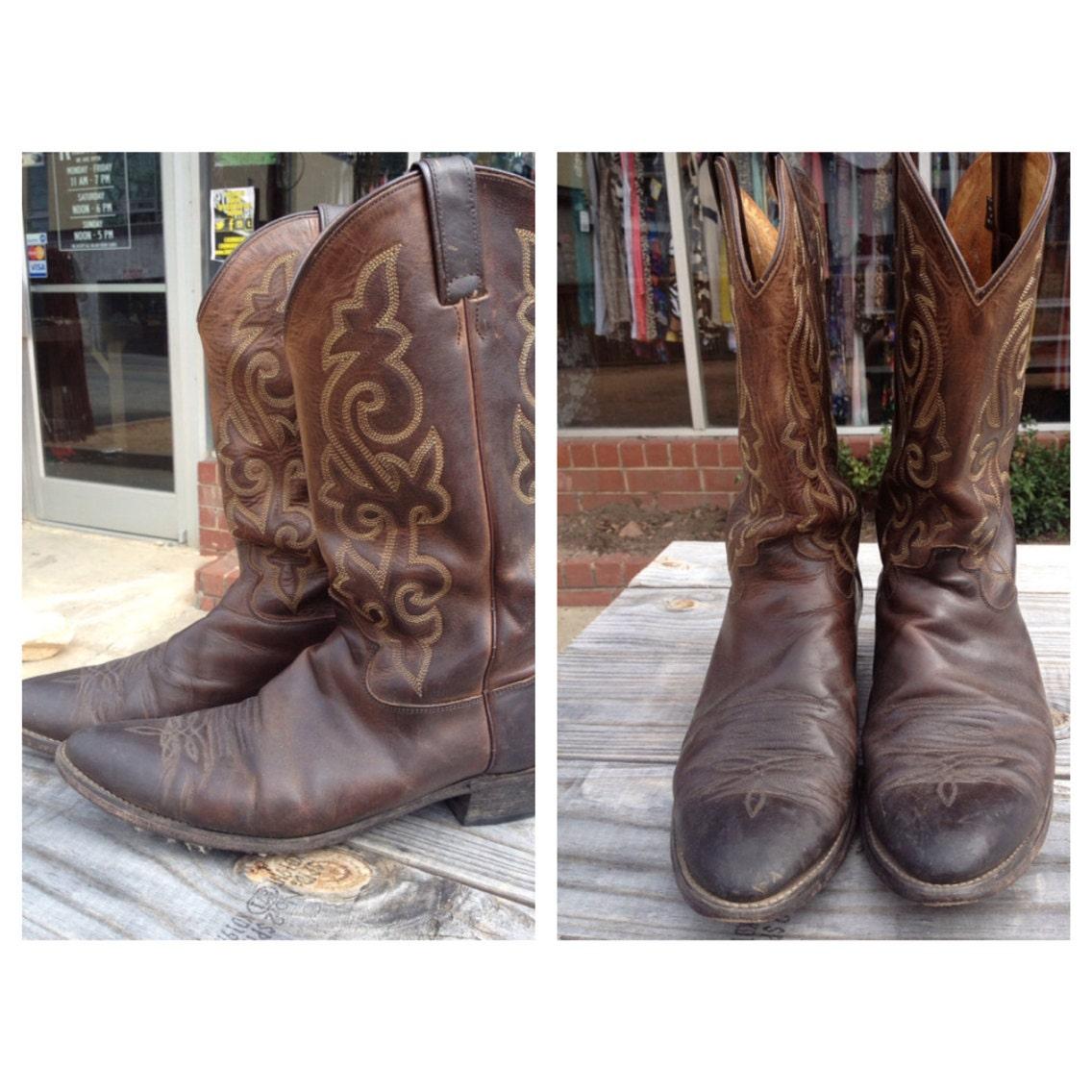 vintage western s cowboy boots size 13