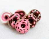 Pink & Brown Polymer Clay Pushpins