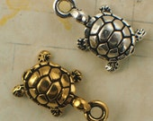 3 Too Cute Turtle Charms - Made in the USA - 15mm X 11mm - Authentic Tierra Cast - Best Jump Rings Included - 100% Guarantee