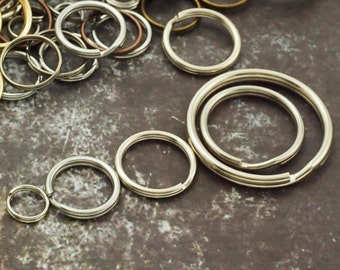 Stainless Steel Split Rings - You Pick Size - 5mm, 6mm, 6.5mm, 7mm, 7.5mm, 8mm, 12mm, 14mm, 20mm, 25mm, 30mm, 40mm