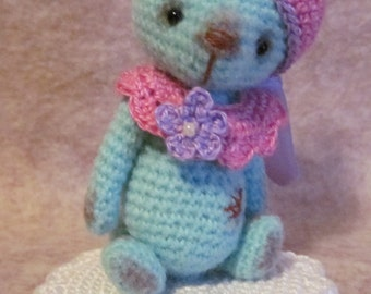 Crochet Pattern for Opal a Thread Artist Teddy Bear  by Joanne Noel of  Bayou Bears