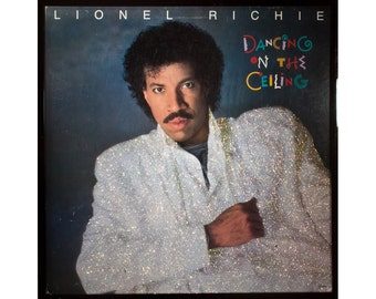 Glittered Vintage Lionel Ritchie Dancing on the Ceiling Album Art