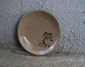 little dish with raccoon  inlay