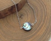 Petite Abalone shell necklace