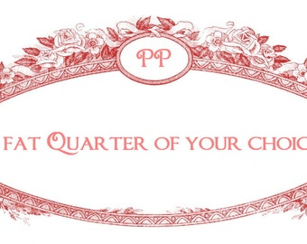 One fat quarter of your choice..From all our existing designer print fabrics..