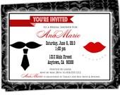 Bridal Shower Invitations/Wedding Shower Invitations/Bride to be Invitations/Couples Bridal Shower Invitations/5x7 invite