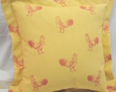 Waverly Pillow French Country Pillow Pecking Order Rooster Design