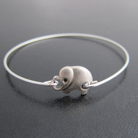 silver elephant bracelet elephant jewelry animal by