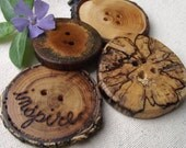 Wood Buttons - Amazing Wooden Ohio Tree Branch Button Assortment - Great for Journals, Pillows, Handbags, Crochet, Knitting and Sewing