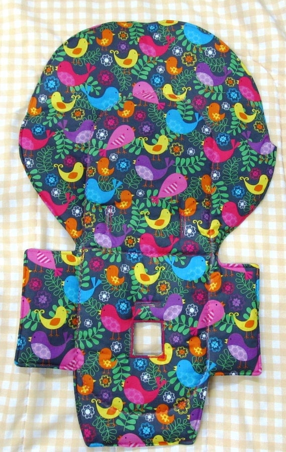 Evenflo Replacement High Chair Padcover Pretty Bird On