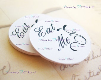 "144 Personalized Simple Circles Die cut  Size 1.25"" -Custom Circles Label -Printed Circles tag -Paper Circles die cut -Wedding Favor Tags"