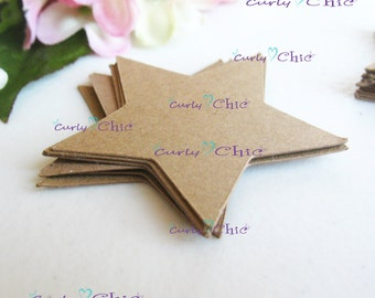 """72 Stars Tag Size 1.50"""" -Stars die cuts -Paper Stars -Cardstock Paper die cuts -Stars die cuts -Paper Labels"""